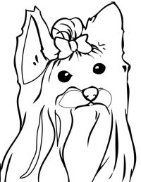 Cutie teacup Yorkie Bow Bow of Jojo Siwa Coloring Page
