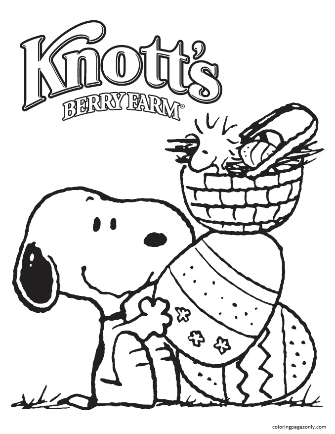 Woodstock And Snoopy 3 Coloring Page