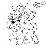 A pet of Jojo Siwa named Bow Bow Coloring Page