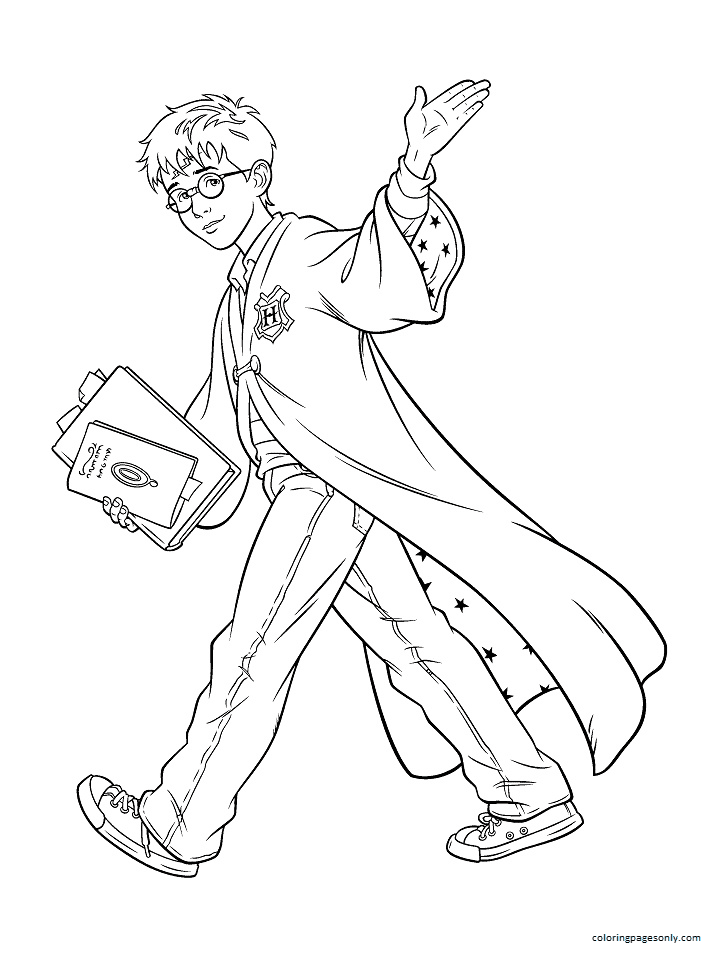 Young Harry Potter at School Coloring Page