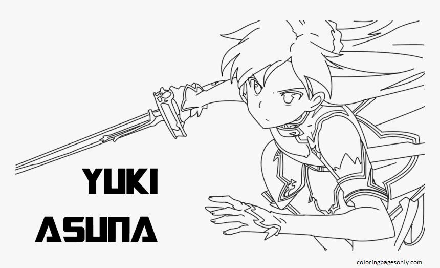 Yuuki Asuna Coloring Page