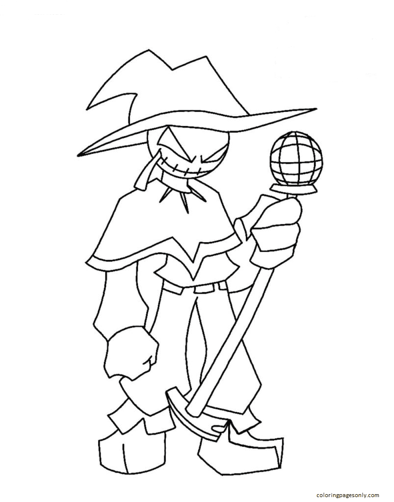 Zardy Foolhardy Coloring Page
