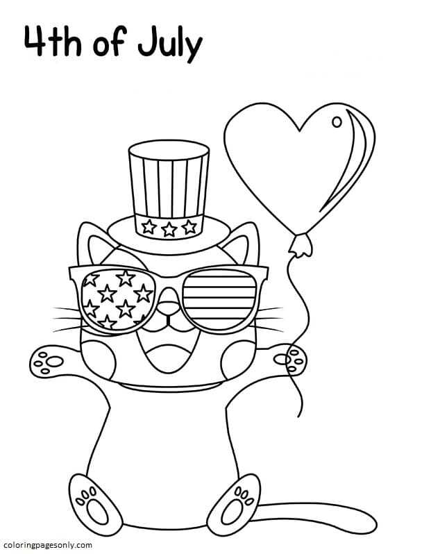 4th Of July 3 Coloring Page