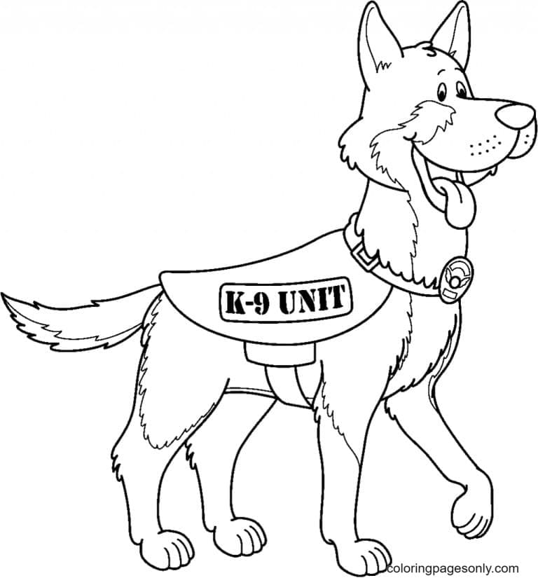 A German Shepherd Dogs Coloring Page