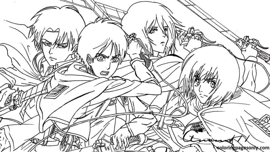 A cold-blooded team to destroy the Titans Coloring Page