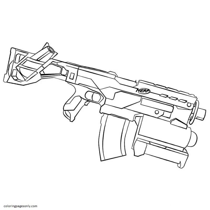A Weapon With A Lethal Shot Coloring Page
