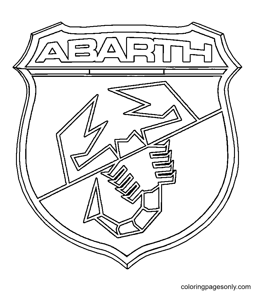 Abarth Logo Coloring Page