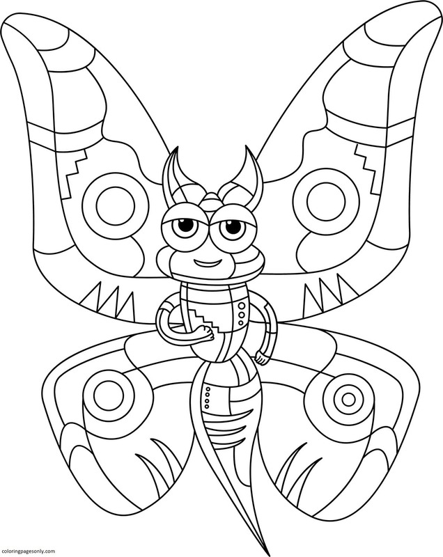 Abstract Butterfly Coloring Page
