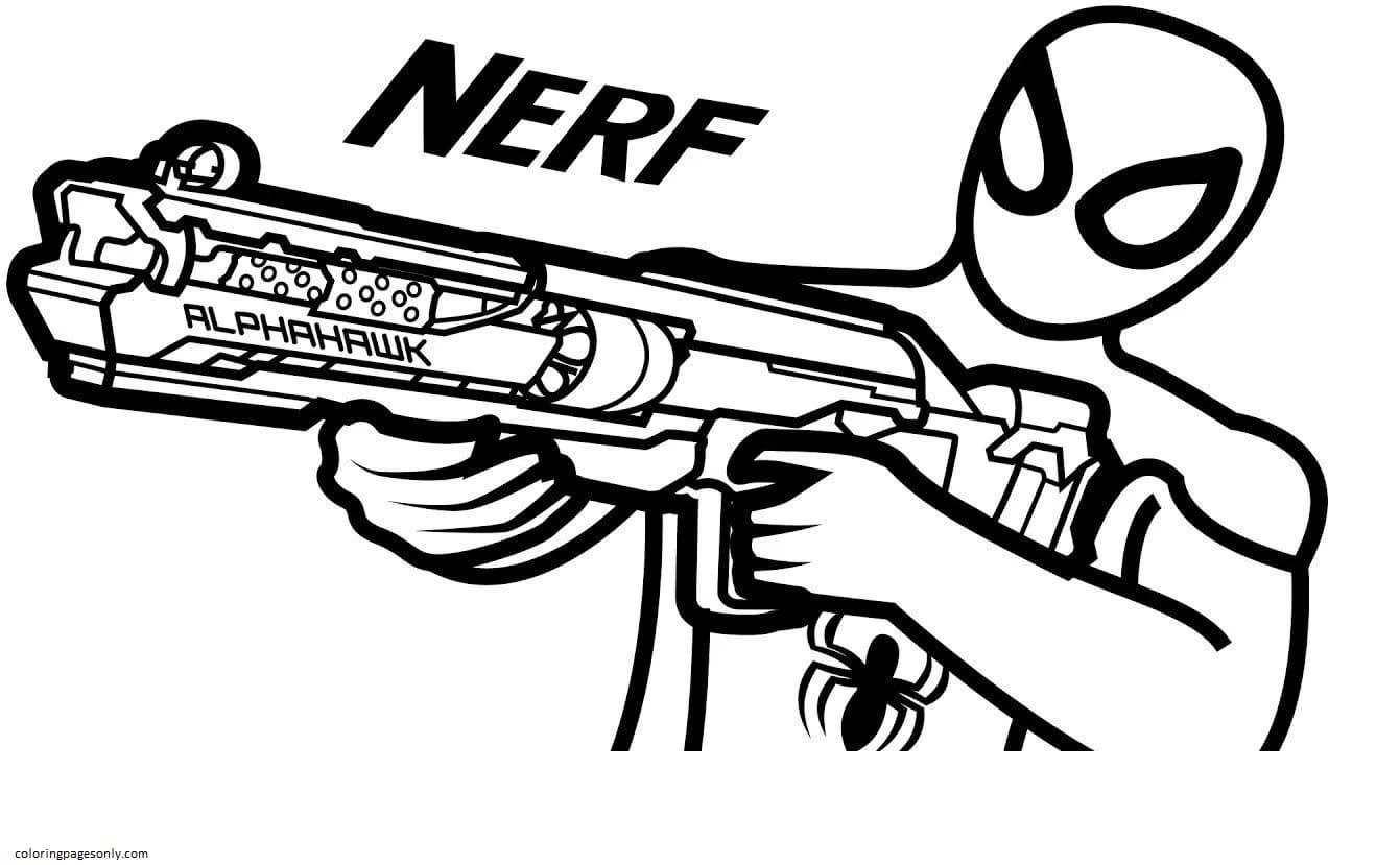 Accurate Blaster Spider Shot Coloring Page