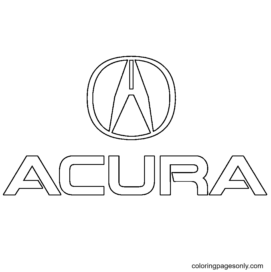 Acura Logo Coloring Page