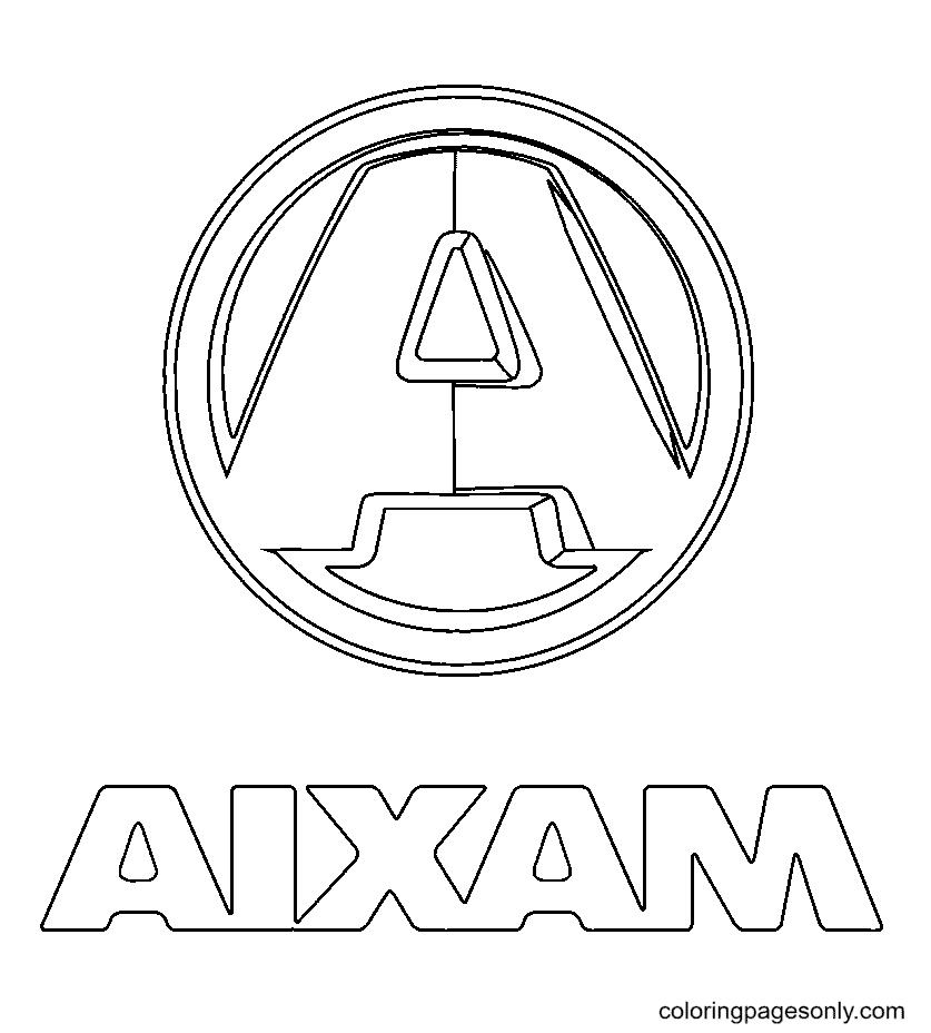 Aixam Logo Coloring Page