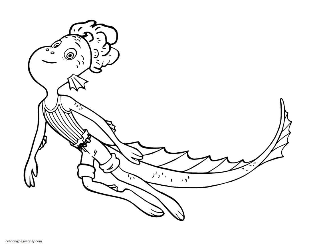 Alberto from Disney Luca 1 Coloring Page