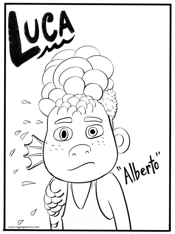 Alberto from Disney Luca Coloring Page