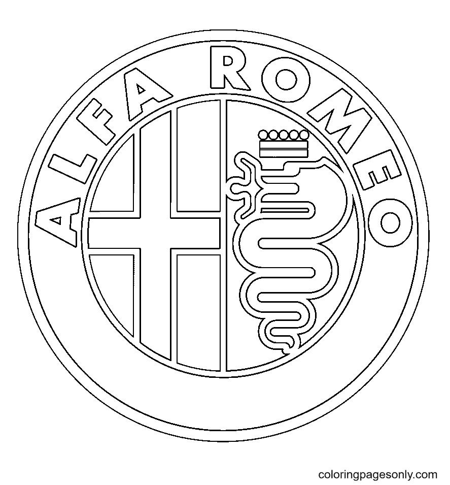 Alfa Romeo Logo Coloring Page