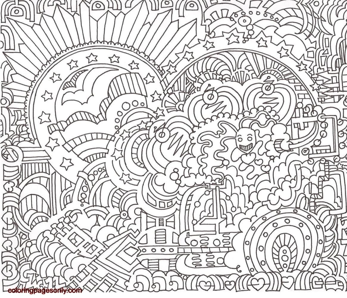 American Machine Doodle Coloring Page