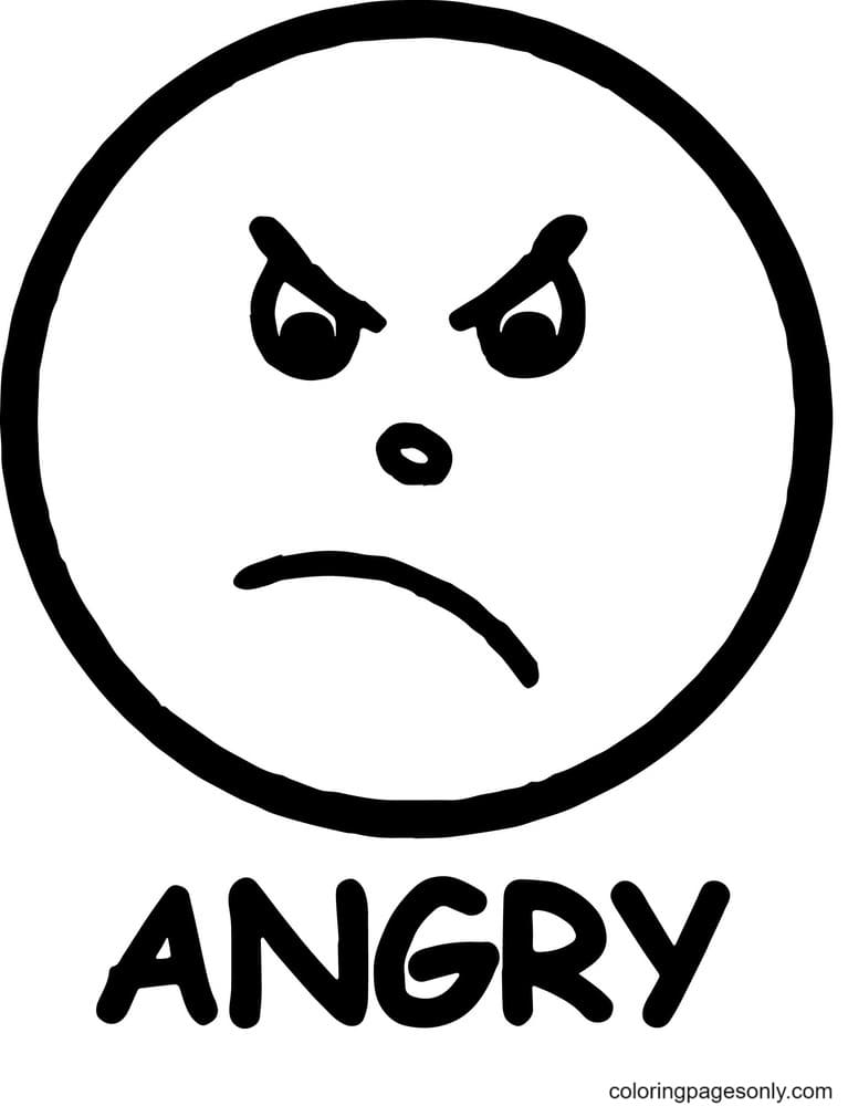 Angry Anger Management Coloring Page