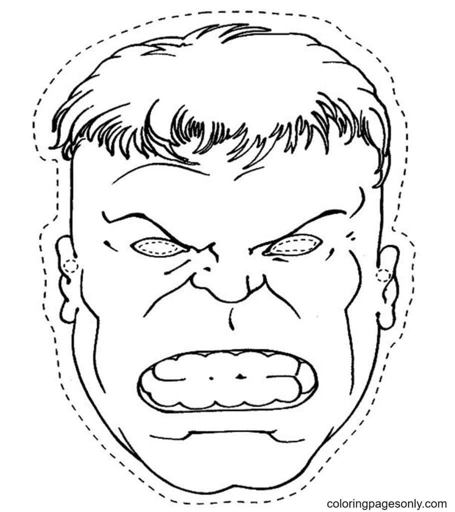 Angry Hulk Coloring Page
