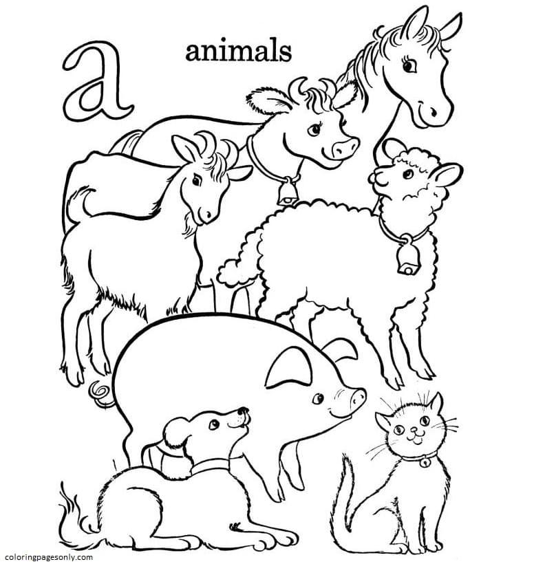 Animal Farm Coloring Page