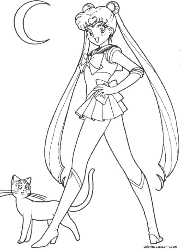 Anime Sailor Moon 1 Coloring Page