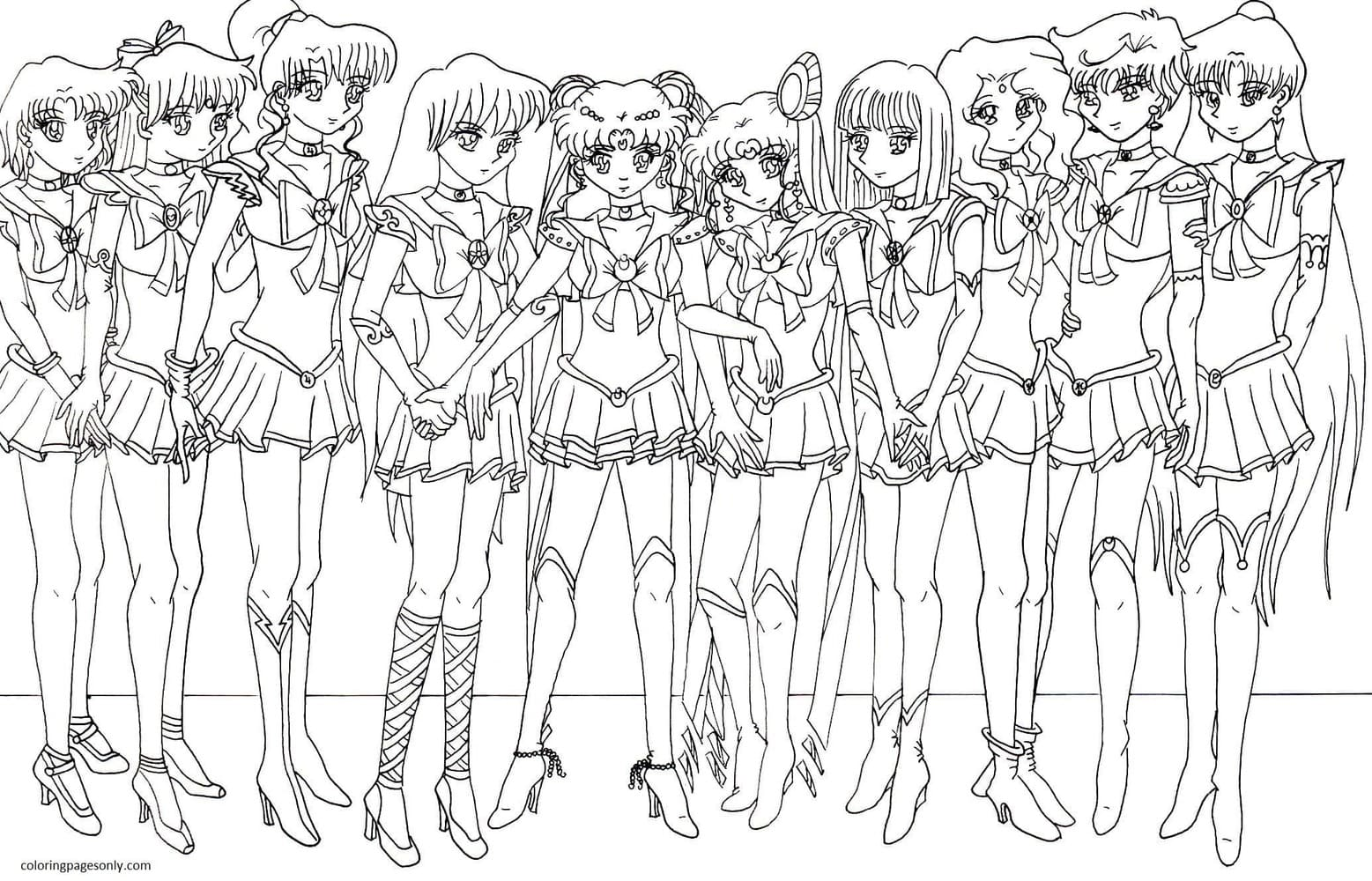 Anime Sailor Moon 2 Coloring Page