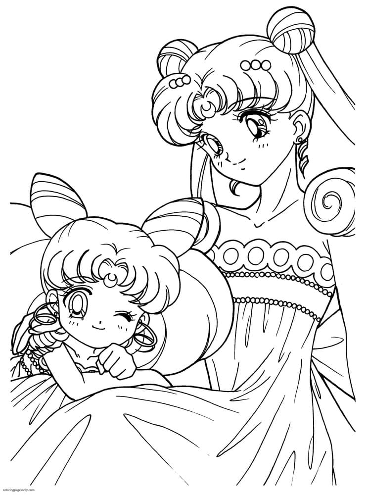 Anime Sailor Moon Coloring Page