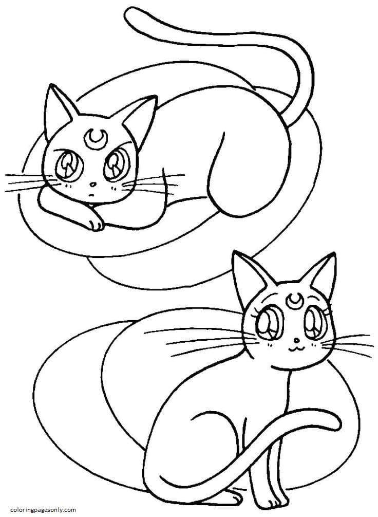 Artemis And Luna Coloring Page