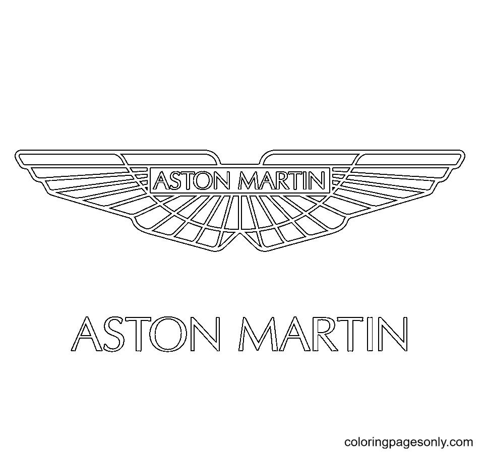 Aston Martin Logo Coloring Page