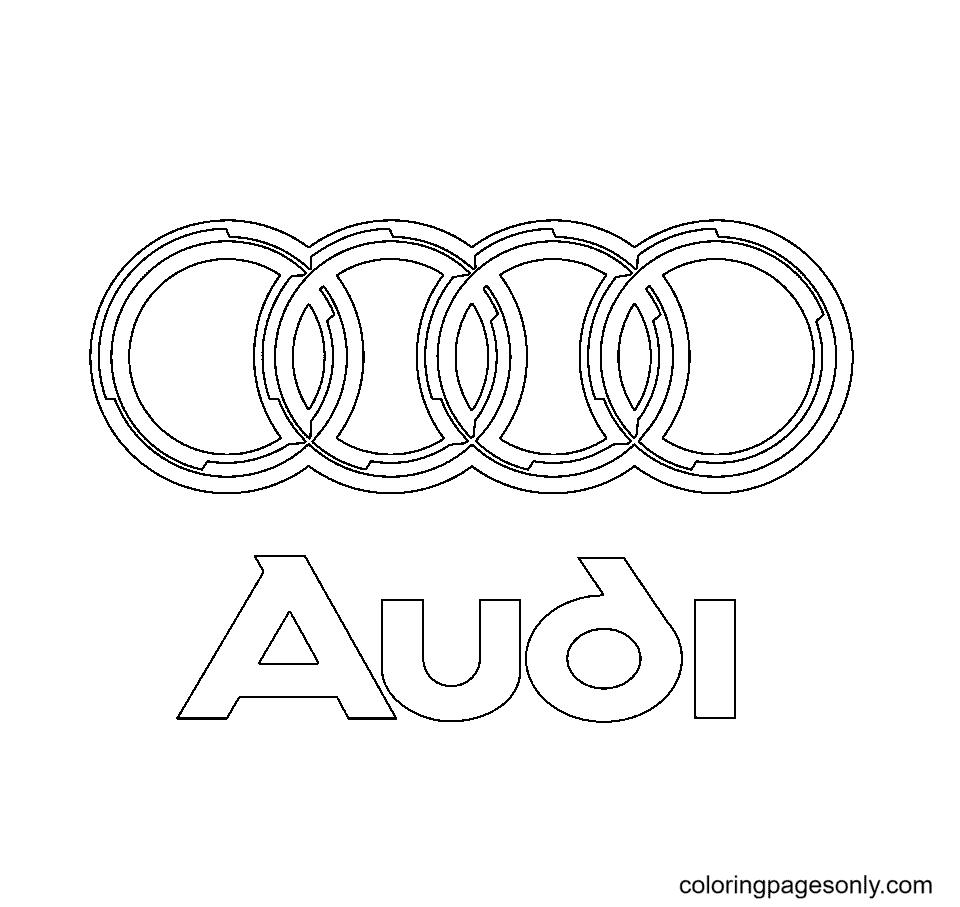 Audi Logo Coloring Page