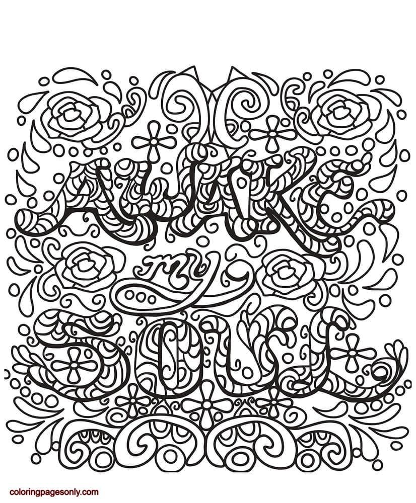 Awake My Soul Coloring Page