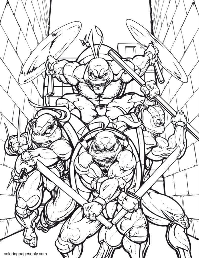 Awesome Turtle 1 Coloring Page