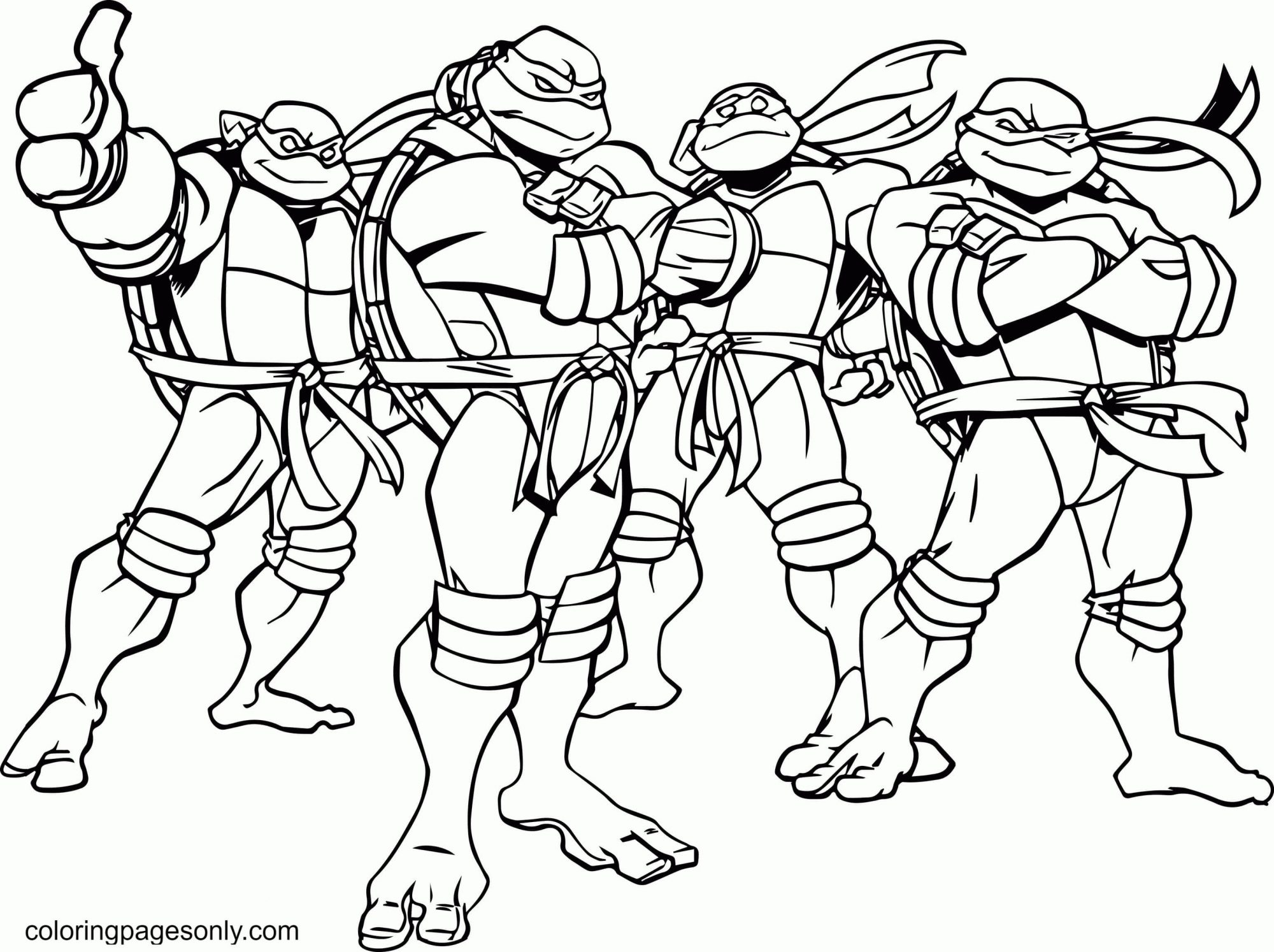 Awesome Turtle Coloring Page