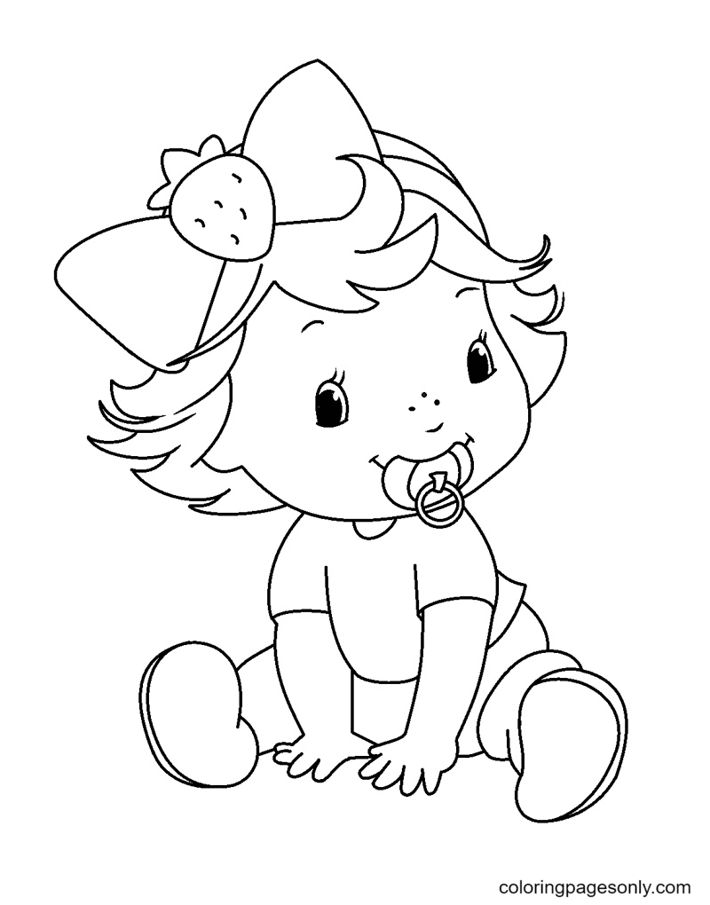 Baby Strawberry Shortcake Coloring Page