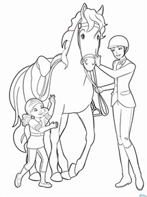 Barbie Horse Coloring Page