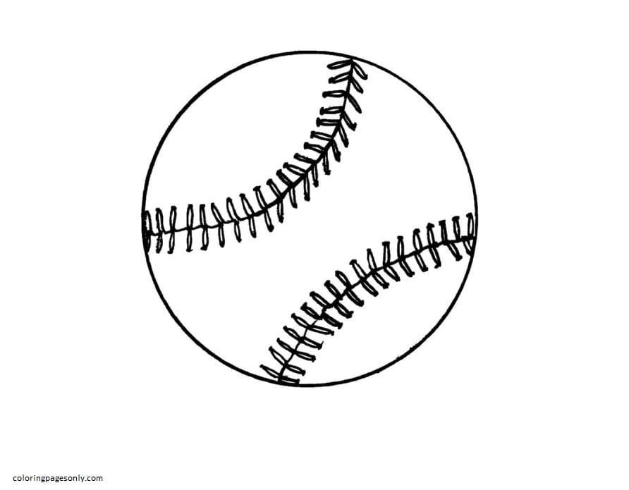 Baseball 2 Coloring Page