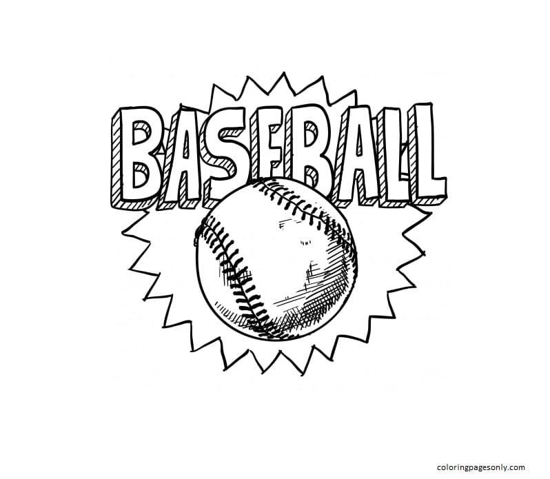 Baseball Image Coloring Page