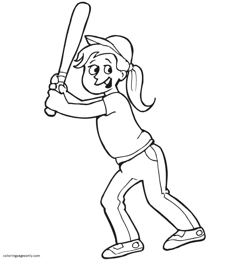 Baseball Pictures Coloring Page