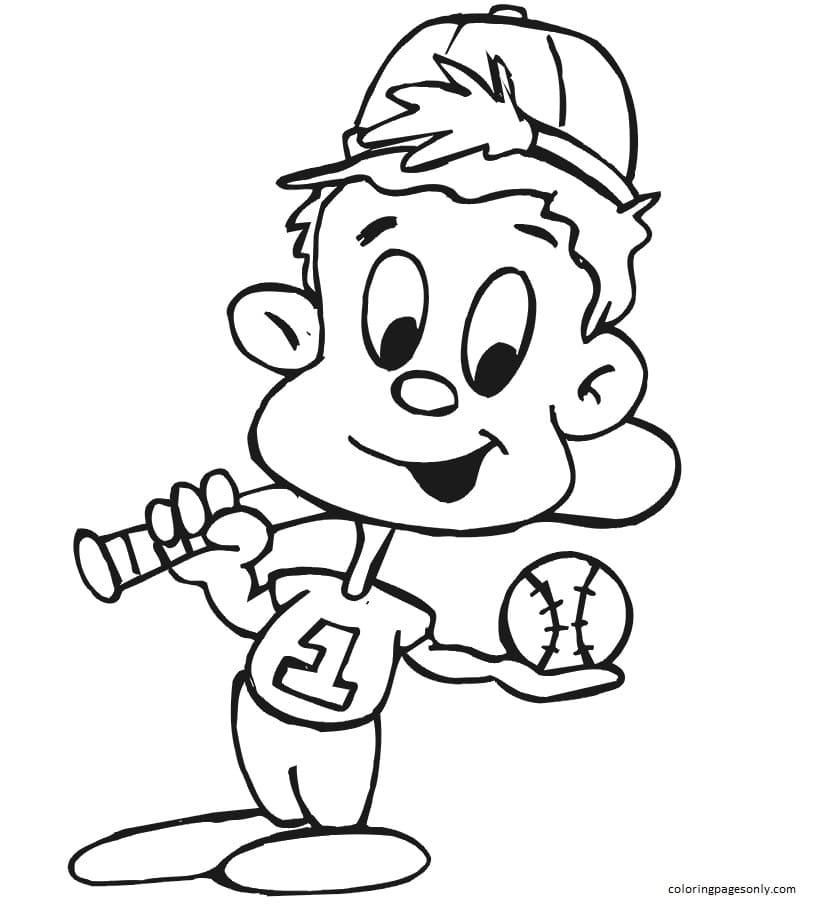 Baseball Player Coloring Page