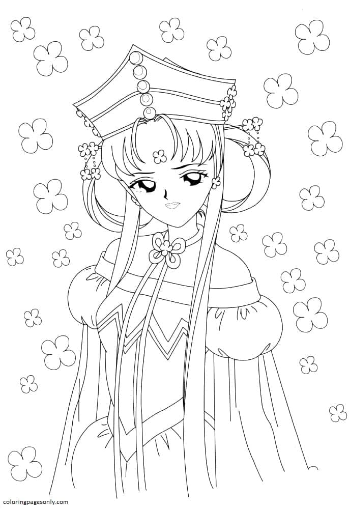 Beauty of Sailor moon Coloring Page