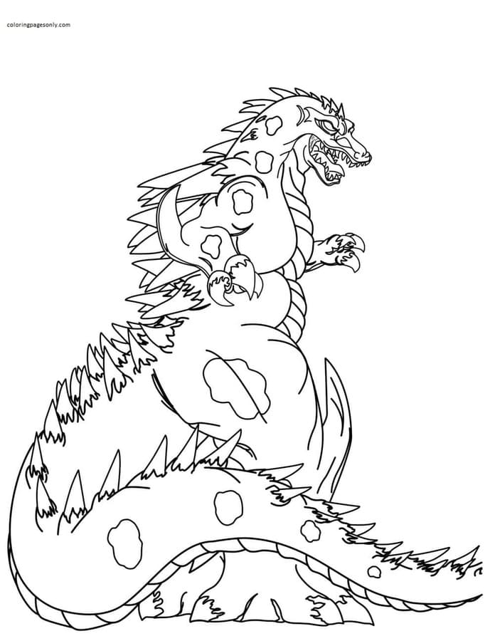 Big Godzilla 1 Coloring Page