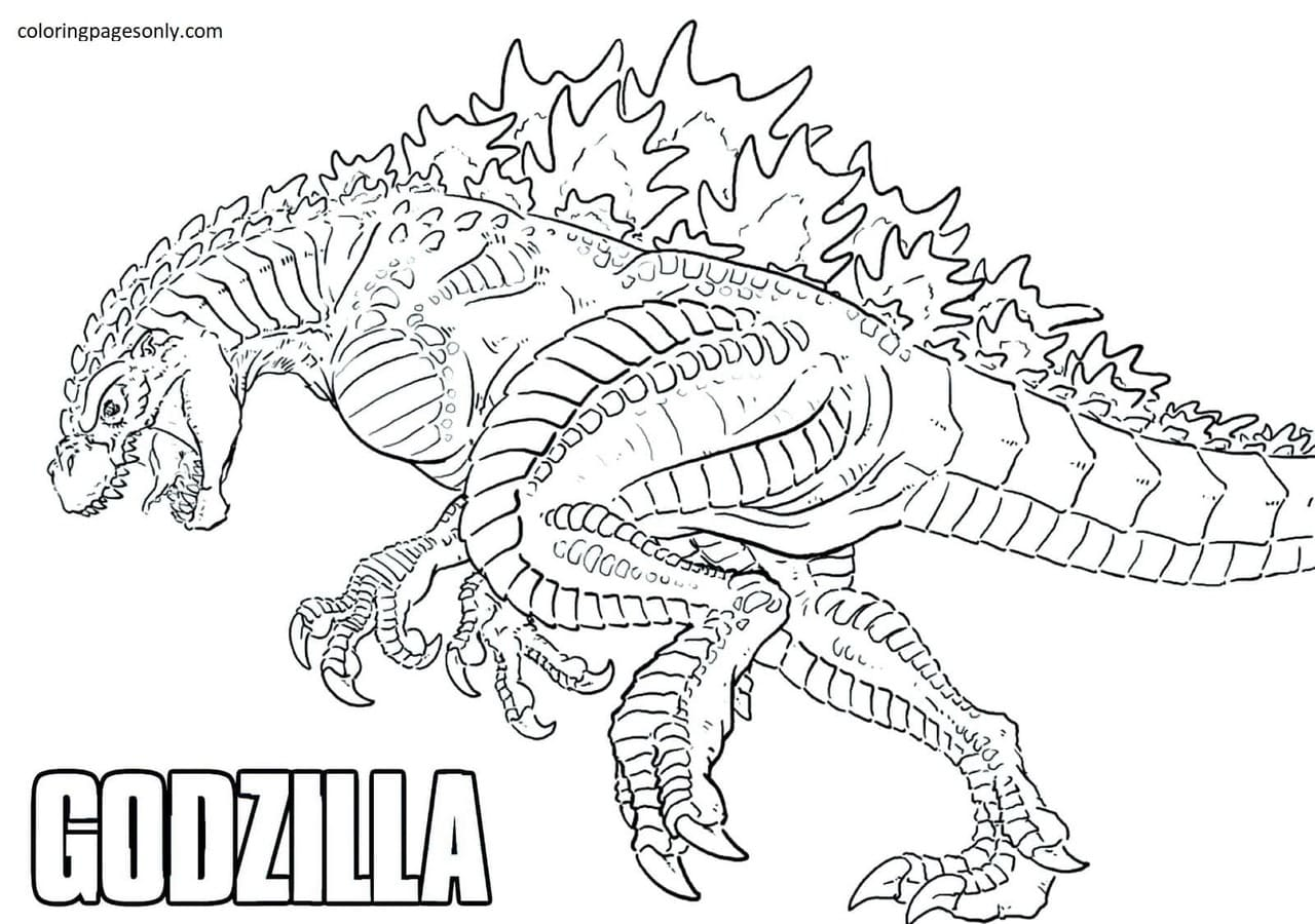 Big Godzilla Coloring Page