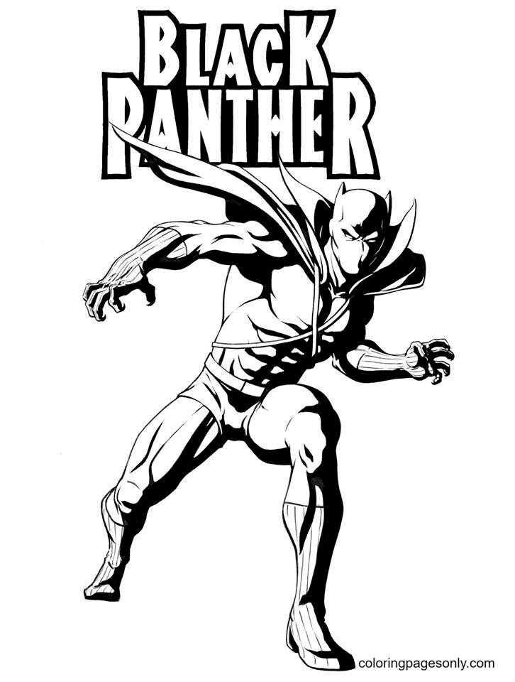 Black Panther Printable Free Coloring Page