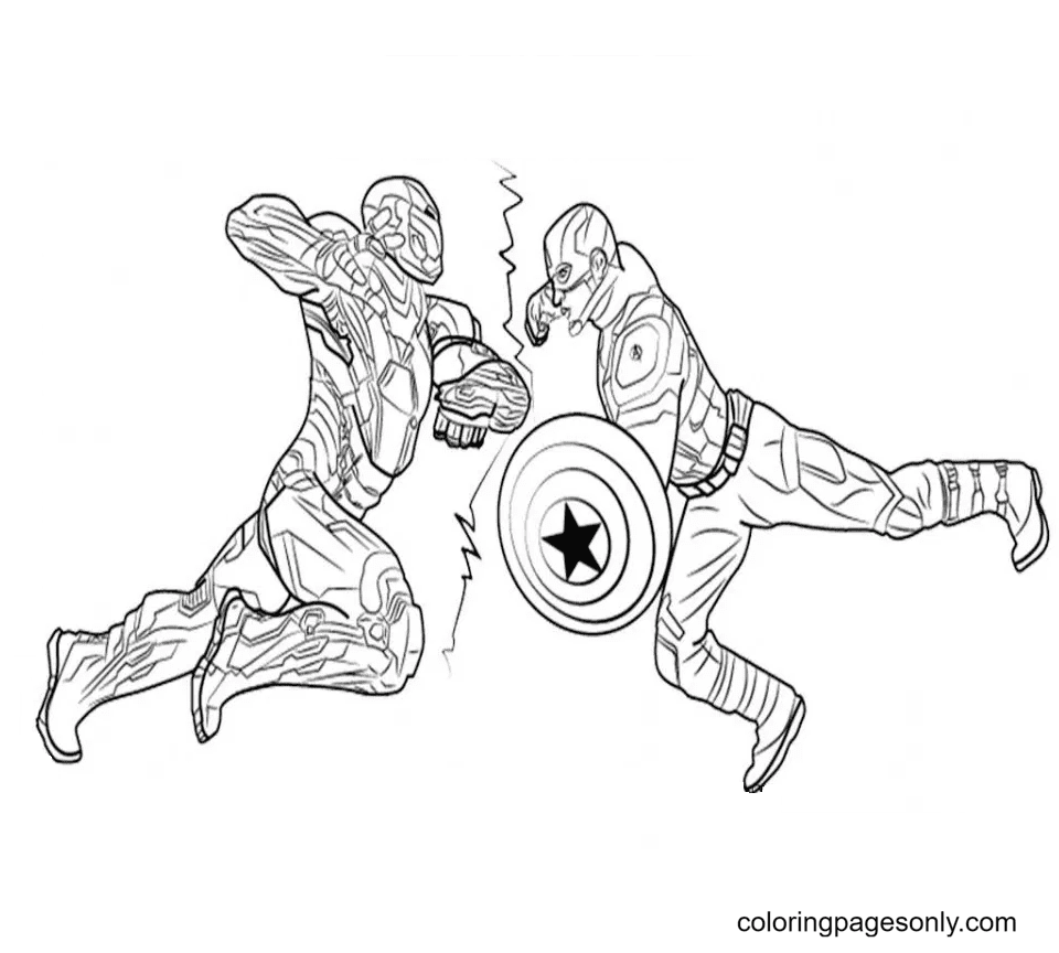 Black Panther Super Hero Coloring Page