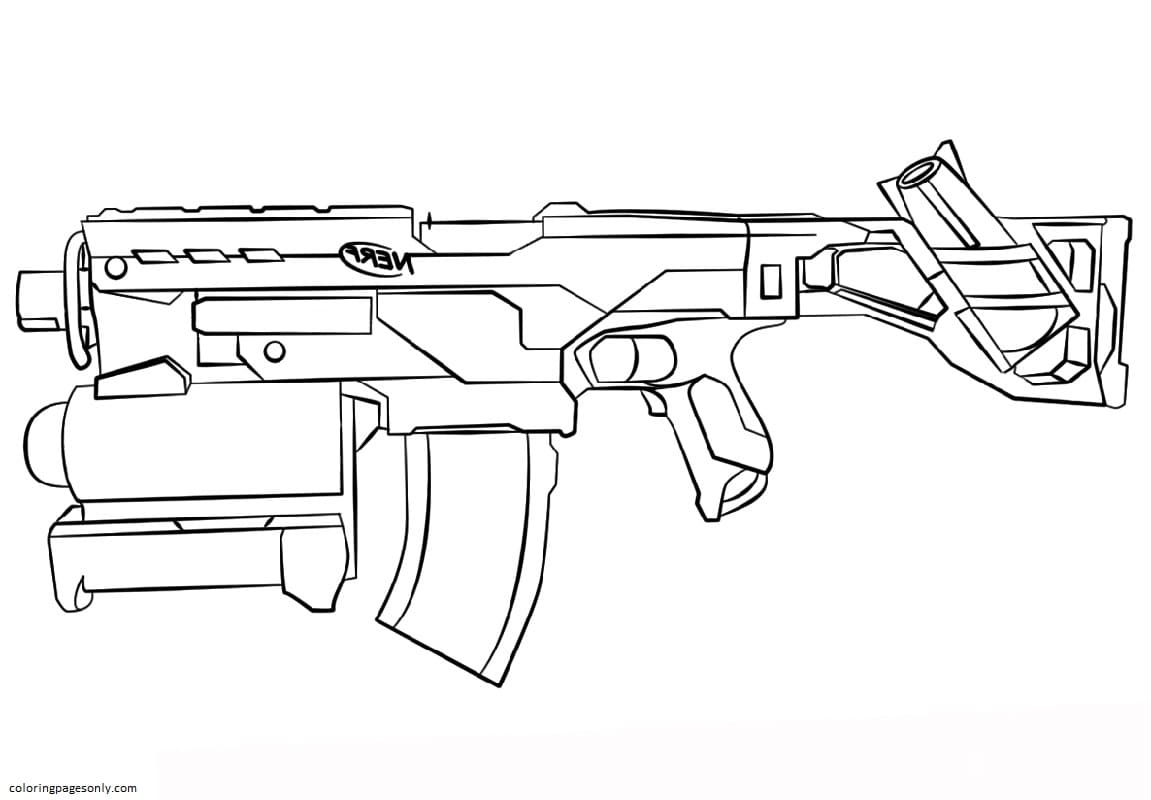 Blaster Nerf Coloring Page
