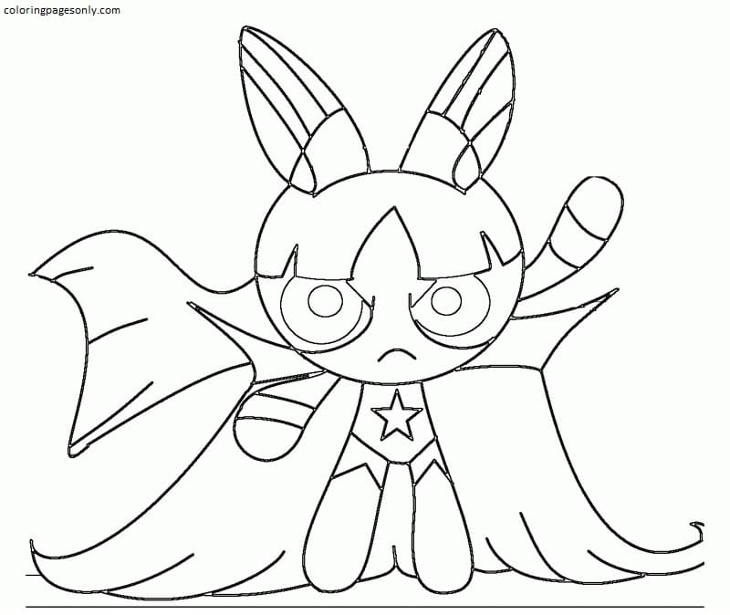 Blossom Powerpuff Girls Coloring Page