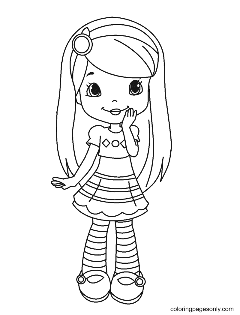 Blueberry Muffin Strawberry Shortcake Coloring Page