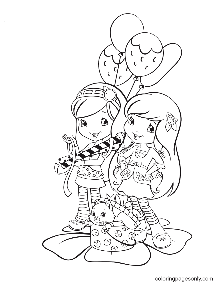 Blueberry Muffin and Lemon Meringue Coloring Page