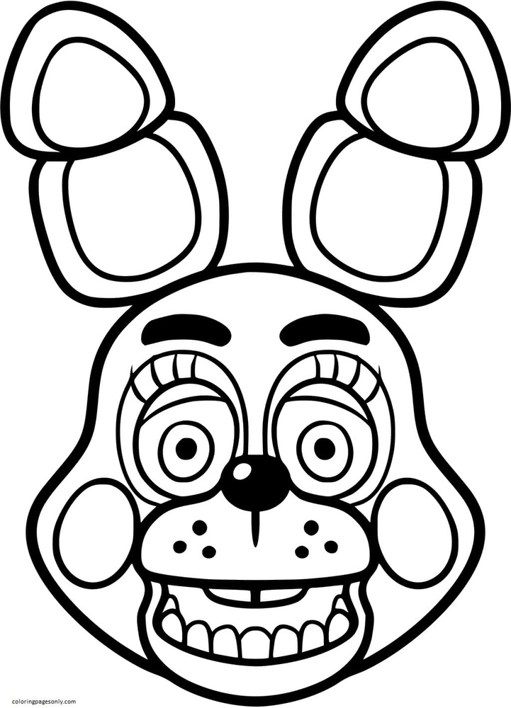 Bonnie Toy FNAF Coloring Page