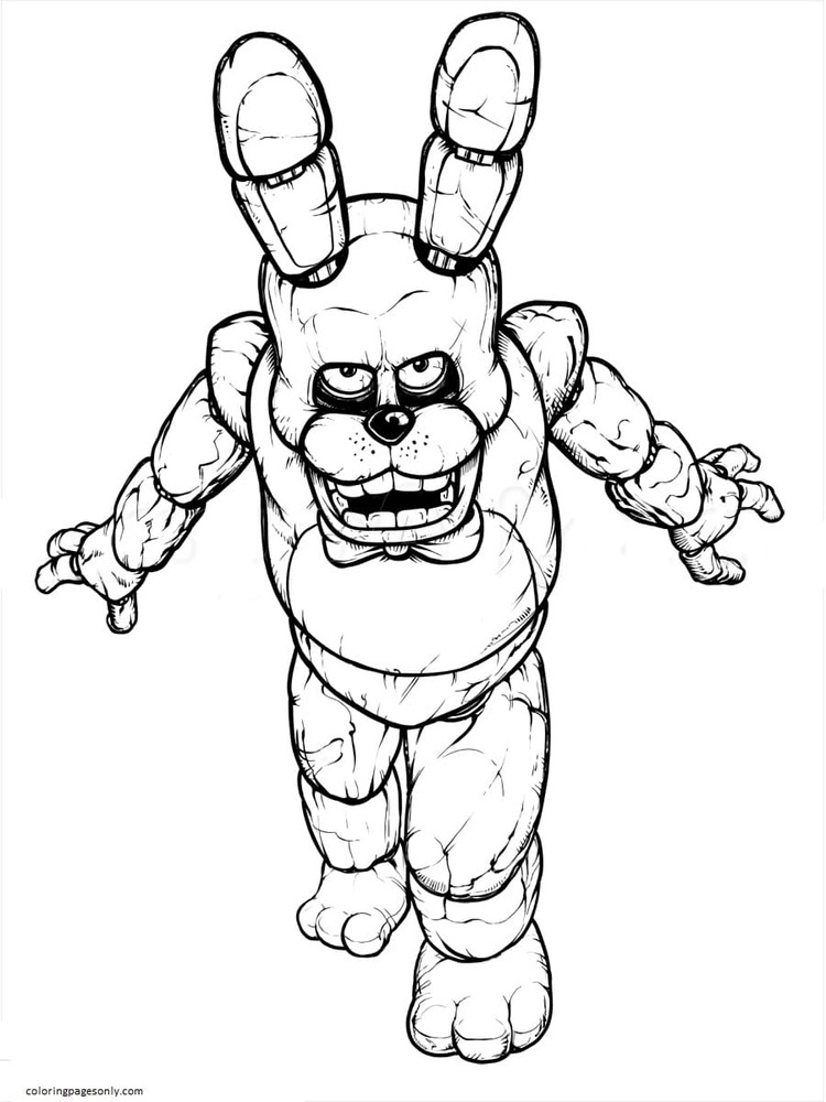 Bonnie Toy From FNAF Coloring Page