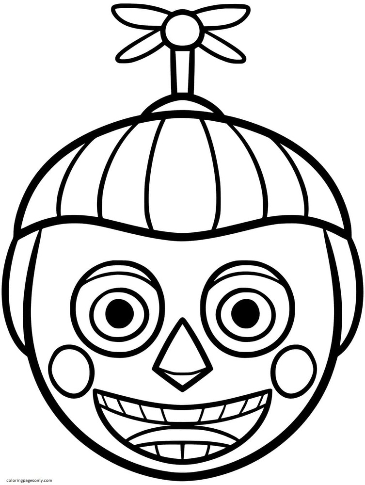 Boy Balloon from FNAF Coloring Page