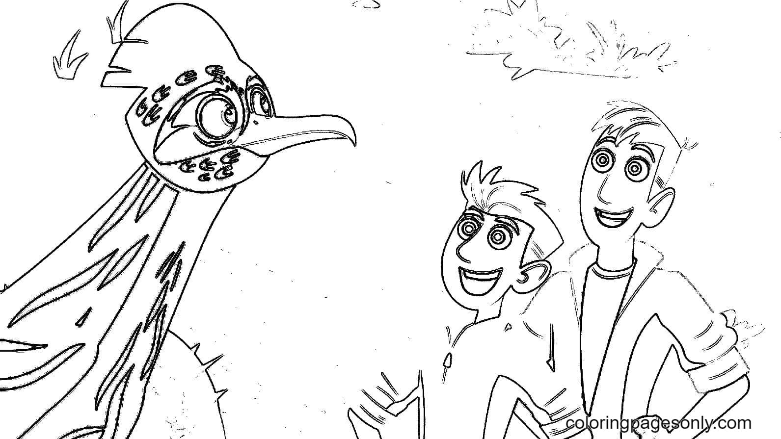 Brothers Chris and Martin Coloring Page